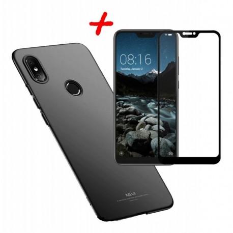 Xiaomi Mi A2 Lite Funda Estuche De Lujo + Vidrio 5d Curvo (Entrega Inmediata)