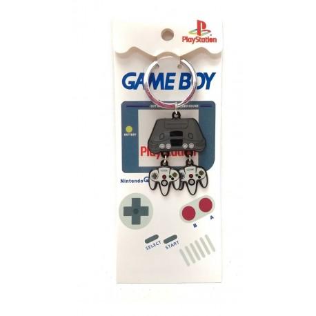 Nintendo 64 Consola Con Controles Llavero Metálico (Entrega Inmediata)