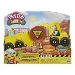 Play Doh Wheels Excavadora Y Cargadora (Entrega Inmediata)