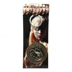 Game Of Thrones Emblema Casa Targaryen Llavero Metálico (Entrega Inmediata)