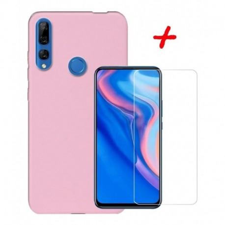 Estuche Silicone + Vidrio Templado 2d Huawei Y9 Prime 2019 (Entrega Inmediata)