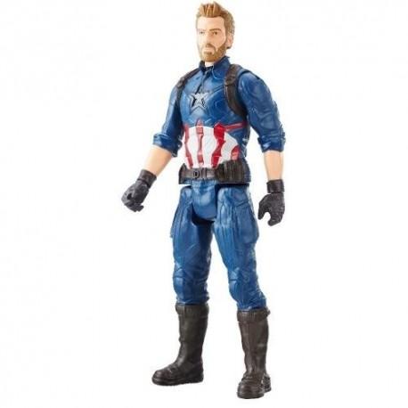 Titan Hero Figura Captain America 12 Pulgadas Powerfx (Entrega Inmediata)