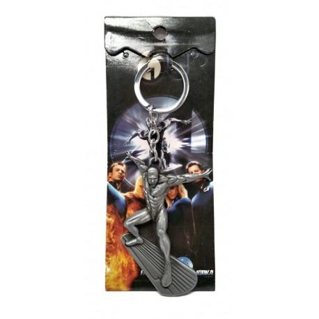 Fantastic Four Silver Surfer Llavero Plateado Metálico (Entrega Inmediata)