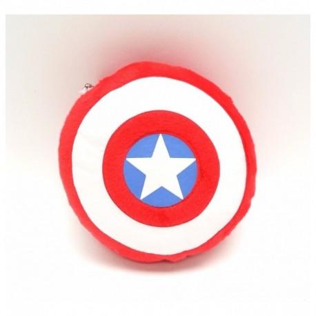 Capitán América Escudo Peluche Llavero (Entrega Inmediata)