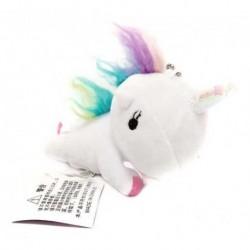 Unicornio Blanco Peluche Llavero Pequeño (Entrega Inmediata)