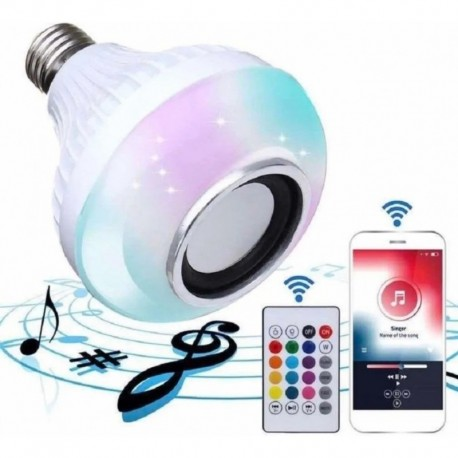 Bombillo Parlante Con Bluetooth Multicolores (Entrega Inmediata)
