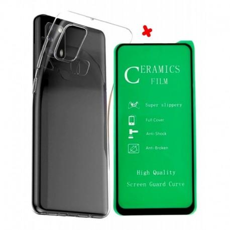 Funda Estuche Goma Clear + Vidrio Cerámico Samsung M31 (Entrega Inmediata)