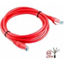 Patch Cord Cat 6a U/ftp Powest 7ft (2m) Rojo (Entrega Inmediata)