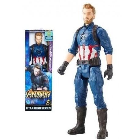 Capitán América Titan Hero Avengers Marvel Ref:e1421 Hasbro (Entrega Inmediata)
