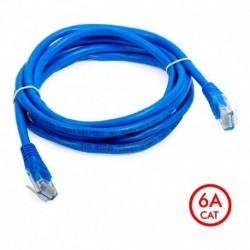 ¡ Patch Cord Cat 6a U/utp Powest 10ft (3m) Azul Nicomar !! (Entrega Inmediata)