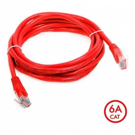 ¡ Patch Cord Cat 6a U/utp Powest 10ft (3m) Rojo Nicomar !! (Entrega Inmediata)