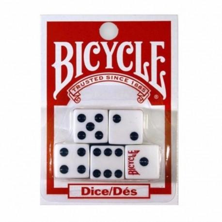 ¡ Juego De 5 Dados Bicycle En Acrílico De Alta Calidad !! (Entrega Inmediata)