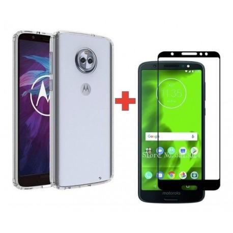 Motorola Moto G6 - G6 Plus Goma Clear + Vidrio 2,5d Full (Entrega Inmediata)