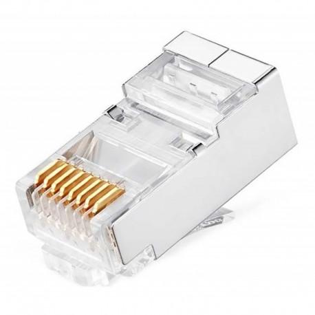 ¡ Conector Rj45 Cat 6 Ftp Powest (paq X10) Ap Deremate !! (Entrega Inmediata)