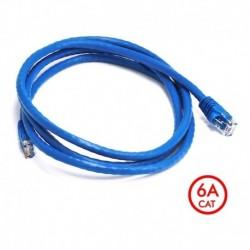 ¡ Patch Cord Cat 6a U/utp Powest 5ft (1,5m) Azul Nicomar !! (Entrega Inmediata)