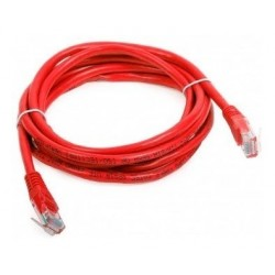Patch Cord Cat 5e Powest 10ft (3m) Rojo (Entrega Inmediata)