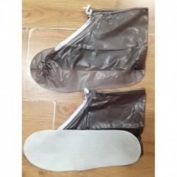 Zapatos Impermeable Protector Lluvia Antideslizante Café (Entrega Inmediata)