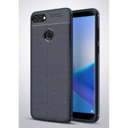 Protector Funda Original Tpu Cuero L Huawei Y9 2018 Azul (Entrega Inmediata)