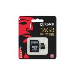 Memoria Kingston Micro Sd Hc Clase 10 - 4k 16 Gb (Entrega Inmediata)