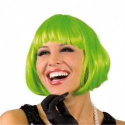 ¡ Peluca Corta Verde De Fantasía Para Fiestas & Halloween !! (Entrega Inmediata)