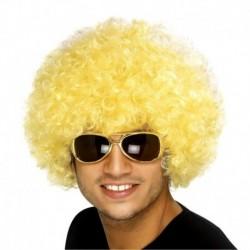 ¡ Peluca Afro Amarillo De Fantasía Para Fiesta Halloween !! (Entrega Inmediata)