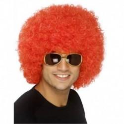 ¡ Peluca Afro Rojo Fantasía Fiesta Halloween Hora Loca !! (Entrega Inmediata)