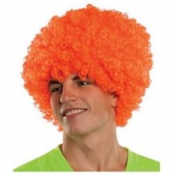 Peluca Afro De Fantasía Naranja (Entrega Inmediata)