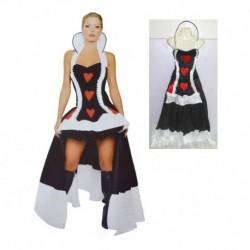 Disfraz Reina De Corazones Mujer Halloween (Entrega Inmediata)