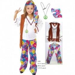 Disfraz Niña Hippie Rock Halloween (Entrega Inmediata)