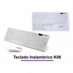 Teclado Inalambrico K06 Con Mouse Y Protector De Teclado (Entrega Inmediata)