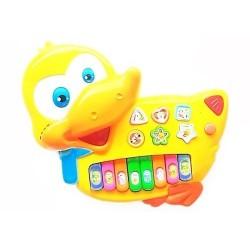 Instrumento Musical Juguete Bebes Pato Niños 2233 Luces (Entrega Inmediata)