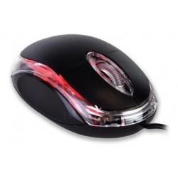 Mouse Óptico Usb Con Luz Led Roja