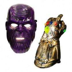Set Thanos Disfraz Niños Guante Luces Zr999 + Máscara Mp960 (Entrega Inmediata)