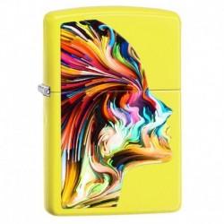 ¡ Zippo Stamp Colorful Head Pocket Lighter 29083 Yellow !! (Entrega Inmediata)
