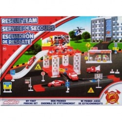 Juego De Estacionamiento Set Bombero Escuadrón De Rescate (Entrega Inmediata)
