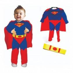 Disfraz Bebe Superman Musculos Halloween (Entrega Inmediata)