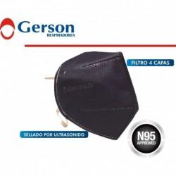 Tapabocas N95 Filtro Marca Gerson Niosh Certificado Plegable (Entrega Inmediata)
