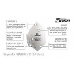 Tapabocas Original Nitta Norma N95 Certificado Niosh (Entrega Inmediata)