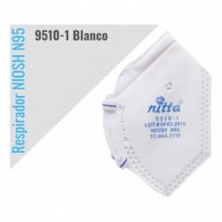Tapabocas Nitta N95 De Serie 9510-1 Con Certificación Niosh (Entrega Inmediata)