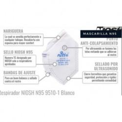 Tapabocas Nitta N95 Ref 9510 Niosh (Entrega Inmediata)