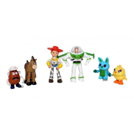 Figura Toy Story 4 Set X6 - Woody Buzz Jessie Hams (Entrega Inmediata)