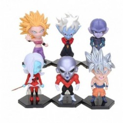 Figura Dragon Ball Set X6 Goku Ultra Instinto (Entrega Inmediata)