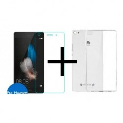 Protector Huawei P8 Lite Vidrio Templado + Silicona De Lujo (Entrega Inmediata)