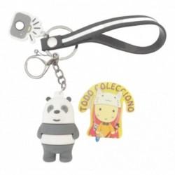 Llavero En Caucho Panda De Escandalosos Nuevos (Entrega Inmediata)