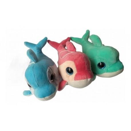 Delfines En Peluche 25 X 15 Cm (Entrega Inmediata)