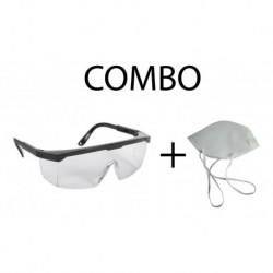 Tapabocas + Gafa Protección Gpl Ojos (Entrega Inmediata)