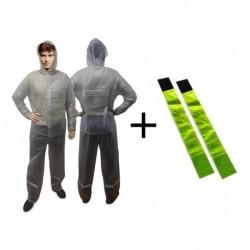 Impermeable 100% Impermeable, Moto Y Cicla + Regalo: Tiras (Entrega Inmediata)