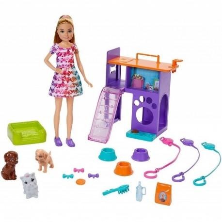 Barbie Mascotas De Stacie Mattel Gff48 Muñeca Y Accesorios (Entrega Inmediata)