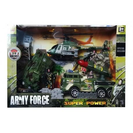 Set Militar X 10 Piezas Army Force Ref. Hw-3a12 (Entrega Inmediata)