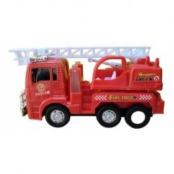Camión Escalera Bomberos 23cm Con Luz Y Sonido 175b-2 (Entrega Inmediata)